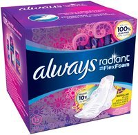 Infinity Always Radiant Regular with wings scented Pads 15 count