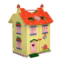 Teamson Kids Hand Carry Doll House - Magic Garden Room Collection