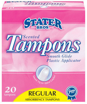 Stater Bros. Regular Scented Tampons 20 Ct Box