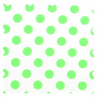 Stwd Neon Polka Dots Fabric by the Yard Color: Green