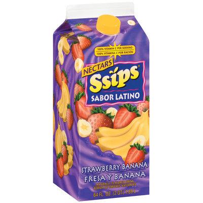 Ssips Sabor Latino Strawberry Banana Nectar Chilled Beverage 64 Oz Carton