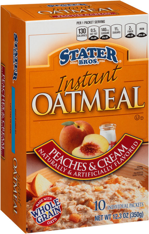 Stater Bros.® Peaches & Cream Instant Oatmeal 10 ct Box