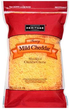 American Heritage® Fancy Shredded Mild Cheddar Cheese 16 oz. Peg
