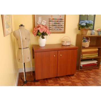 Arrow Sewing Bertha Cherry Sewing Cabinet Wood