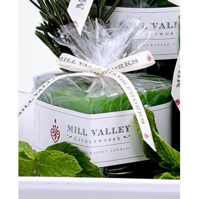 Mill Valley Candleworks Rosemary Mint Scented Novelty Candle Size: 3