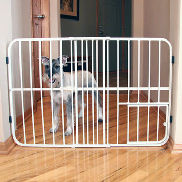 Carlson Pet Tuffy Expandable Gate with Small Pet Door