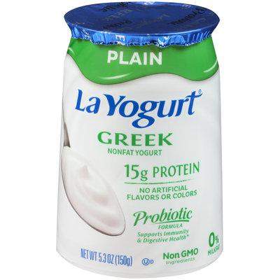 La Yogurt® Plain Greek Nonfat Yogurt 5.3 oz. Cup