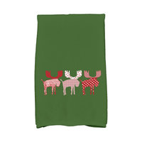 E By Design Jump for Joy Merry Moose Hand Towel Color: Green