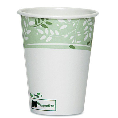 Dixie EcoSmart Hot Cups, Paper w/PLA Lining, Viridian (Pack of 50) (Set of 2)