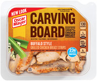 Oscar Mayer Carving Board Buffalo Style Grilled Chicken Breast Strips 5.5 oz. Tub