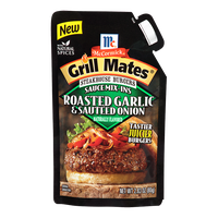McCormick® Grill Mates® Roasted Garlic & Sautéed Onion Steakhouse Burgers Sauce Mix-Ins