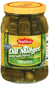 Nalley® Dill Midget Wholes Pickles 16 fl. oz. Jar