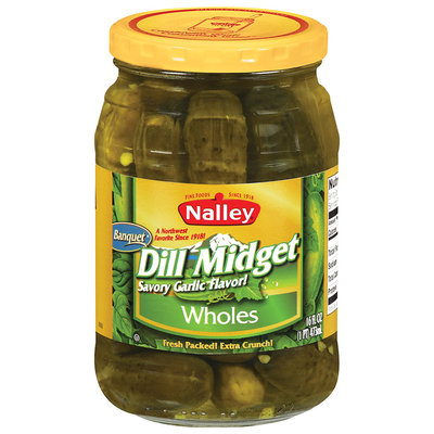Nalley® Dill Midget Wholes Pickles 16 fl. oz. Jar