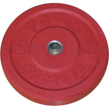 York Barbell Training Bumper Plate Weight: 45 lbs