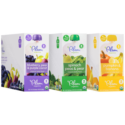 Plum Organics® Stage 2 Variety Pack Organic Baby Food 18-4 oz. Pouches