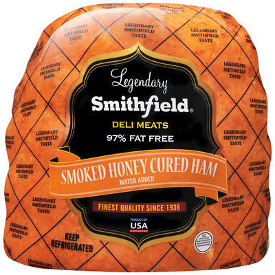 Legendary Smithfield® Deli Meats Smoked Honey Cured Ham Package