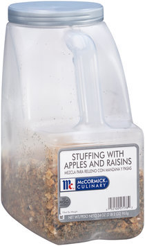 McCormick® Culinary® Stuffing with Apples and Raisins 34 oz. Plastic Jug