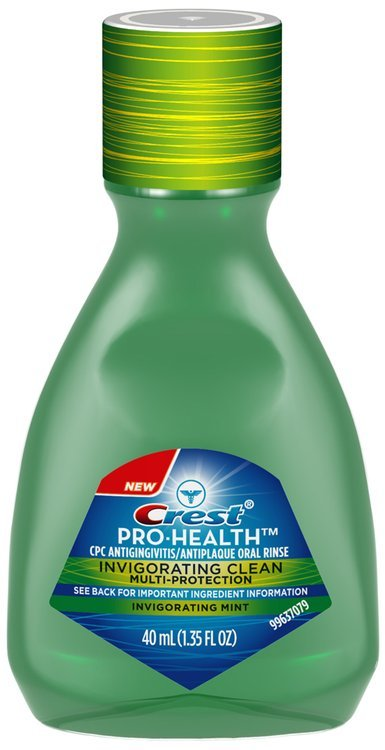 Crest Pro-Health Invigorating Clean Mint Mouthwash 40mL Bottle