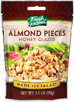 Fresh Gourmet® Honey Glazed Almond Pieces 3.5 oz. Pouch
