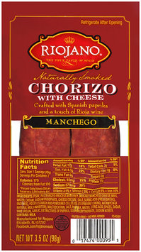 Riojano® Manchego Chorizo with Cheese 3.5 oz. Pack