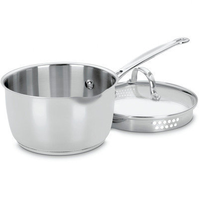 Cuisinart Chef's Classic Stainless 2Qt Saucepan w/Cover