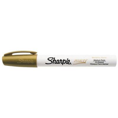 Sanford Brands Sanford Sharpie Paint Marker, Oil Base, Medium Point, Gold