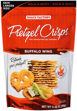 Pretzel Crisps® Buffalo Wing Pretzel Crackers 9.35 oz. Bag
