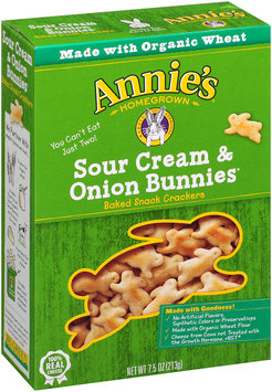Annie's® Homegrown Sour Cream & Onion Bunnies Baked Snack Crackers