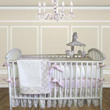 Bebe Chic Emma 4 Piece Crib Bedding Set with Mobile