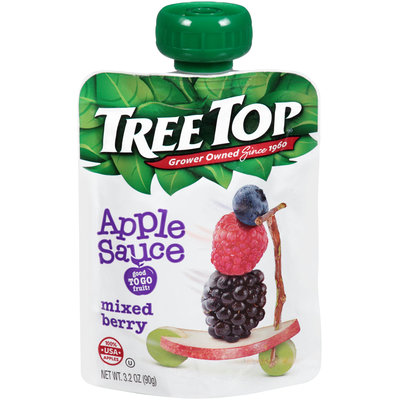 Tree Top® Mixed Berry Apple Sauce 3.2 oz. Pouch