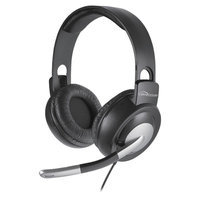 Compucessory CCS15157 Foldable Stereo Headset Adjustable 71 in. Cord Black