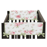 Sweet Jojo Designs Riley's Roses Side Crib Rail Guard Cover