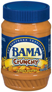 Bama Spreads Crunchy, Modified 6/30/07 Peanut Butter 18 Oz Plastic Jar