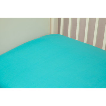 Riegel Cotton Solid Crib Sheet Color: Turquoise