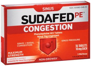 Sudafed PE® Nasal Decongestant Tablets 36 ct Box