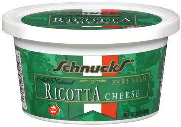 Schnucks Ricotta Part Skim Cheese 15 Oz Tub
