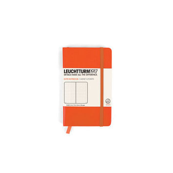 Leuchtturm Pocket Soft Cover Notebook Page Type: Squared, Color: Orange