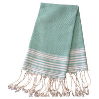 Scents And Feel Honey Comb Fouta Hand Towel (Set of 2) Color: Aqua / White