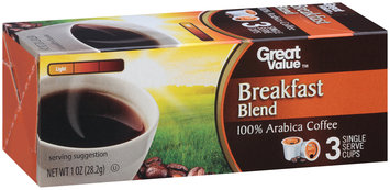 Great Value™ Breakfast Blend 100% Arabica Coffee 1 oz. Box