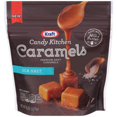 Kraft Candy Kitchen Sea Salt Soft Caramels 8 oz. Pouch