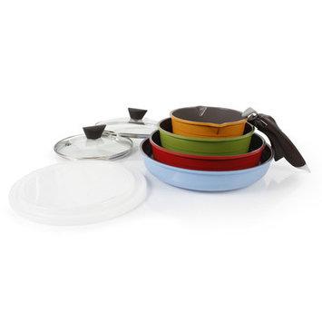 Neoflam 52101 9 Piece Midas Cast Aluminum Cookware Set With Detachable Handle