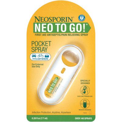Neosporin® Neo to Go Antiseptic Pain Releiving Spray Front End Plus Pain Relief .26 Oz Peg