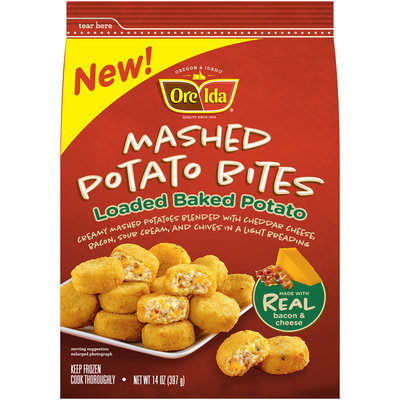 Ore-Ida® Loaded Baked Potato Mashed Potato Bites 14 oz. Bag
