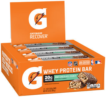 G® Gatorade Recover® Mint Chocolate Crunch Whey Protein Bar 12 ct Box