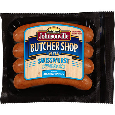 Johnsonville Butcher Shop Style Smoked Swisswurst 14oz pkg   (101874)