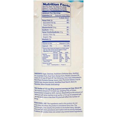 Dole® Orange Soft Serve Mix 4-4.4 lb. Bags