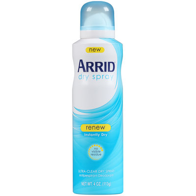 Arrid® Renew Ultra-Clear Dry Spray Antiperspirant Deodorant 4 oz. Aerosol Can