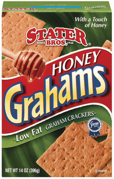 Stater Bros. Honey Low Fat Graham Crackers 14 Oz Box