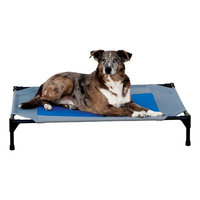 K & H Manufacturing Coolin Gel Pet Cot Cover - Gray/Blue - Med. - 25 in x 32 in