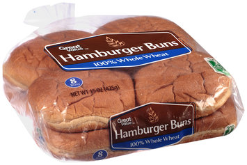 Great Value™ Whole Wheat Hamburger Buns 8 ct. 15 oz. Package